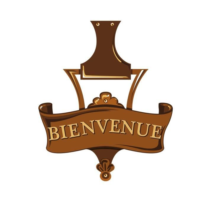Sticker porte bienvenue 20x24 cm achat vente stickers for Decoration porte bienvenue