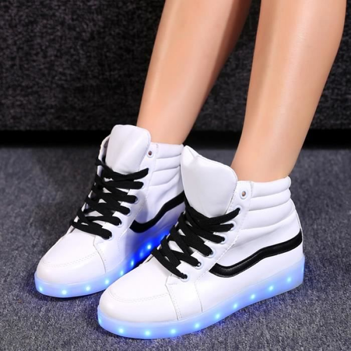 chaussures LED Lace Up baskets 39#