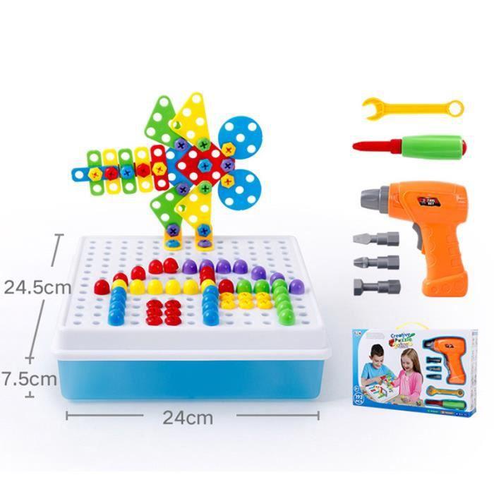 ASSEMBLAGE CONSTRUCTION Enfants perceuse électrique vis écrou puzzle jouet