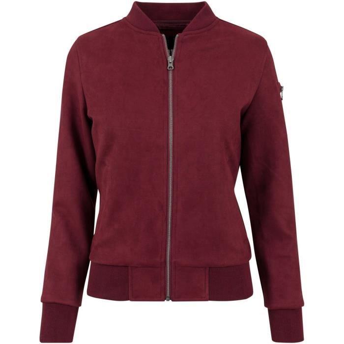 DOUDOUNE Urban Classics Ladies - Imitation Daim BOMBER Vest