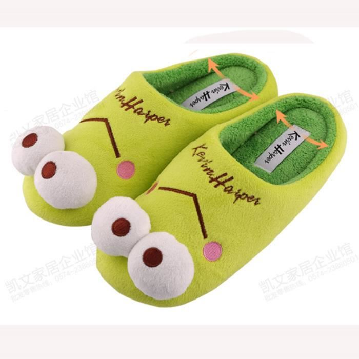 Pantoufles monstre Bigfoot cartoon Coton slippers BTYS-XZ036Rose45 JLR78s