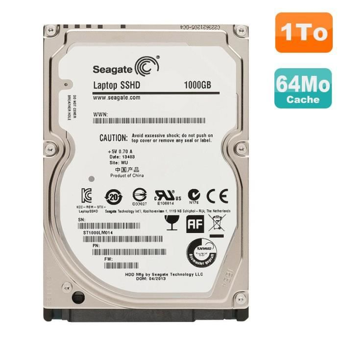disque dur 1to sata 2 5 seagate laptop sshd st1000lm014. Black Bedroom Furniture Sets. Home Design Ideas