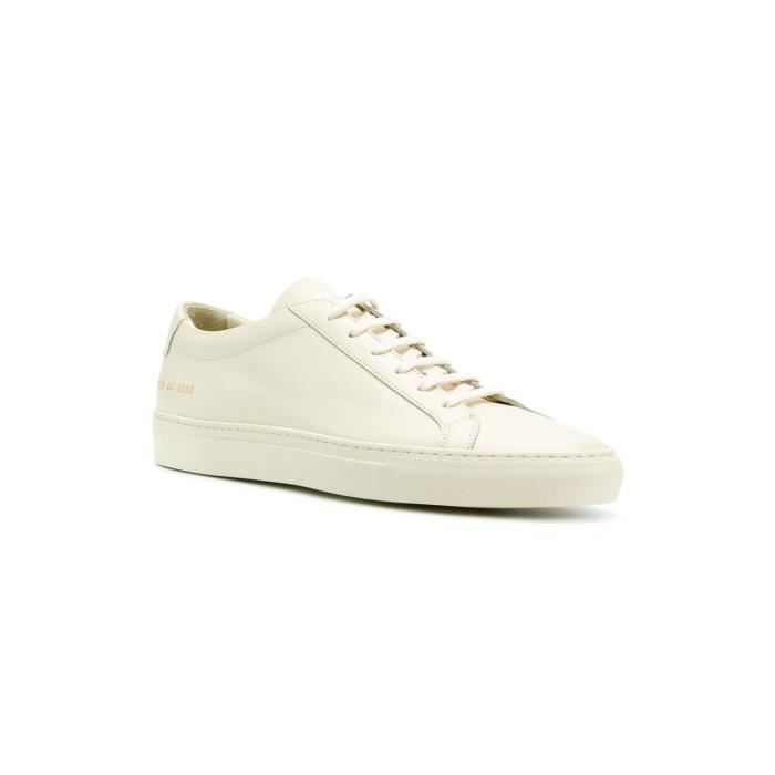 COMMON PROJECTS HOMME 15283060 BEIGE CUIR BASKETS