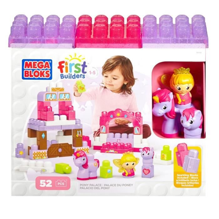 Mega bloks first builders lil 39 princess palace du poney for Builders first