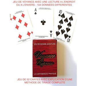 CARTES DE JEU Jeu de Tarot Voyance Express  - 52 cartes - Lectur