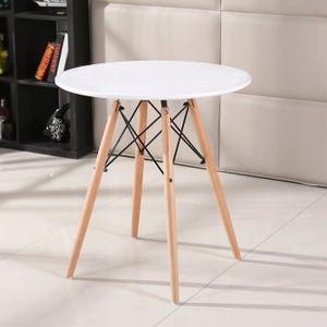 TABLE À MANGER SEULE Table à manger ronde style scandinave rétro blanc