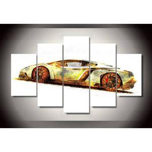 TABLEAU - TOILE No Frame tableau toile peinture 5 pcs voiture de c
