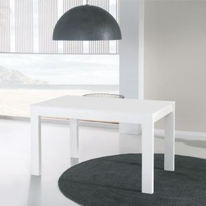 Table extensible blanc achat vente table extensible for Taille table a manger