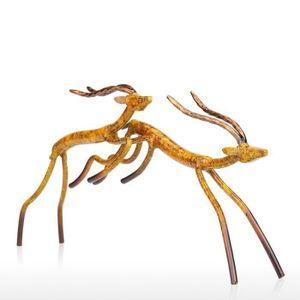 STATUE - STATUETTE BH Tooarts Antilope Sauteur Sculpture Statuette d'