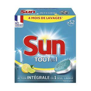 EAU DE JAVEL Sun tablettes lave vaisselle tout en un 52 tablett
