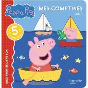 LIVRE 0-3 ANS ÉVEIL Livre - Peppa Pig ; comptines vol 1