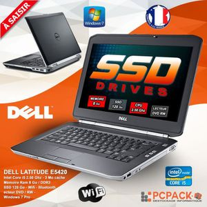 ORDINATEUR PORTABLE DELL LATITUDE E5420 CORE I5 2520M 8GO 120SSD