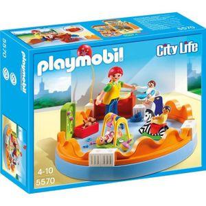 UNIVERS MINIATURE PLAYMOBIL 5570 - City Life - Espace Crèche avec Bé