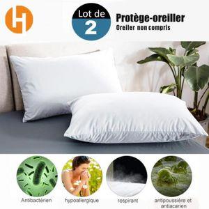 PROTÈGE MATELAS  HAIRICH Lot de 2 Protège-Oreillers Imperméables (5