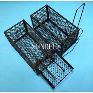 CHASSE - PIÈGE INSECTES SUNDELY 2pcs Cage Piège Souris Rat Rongeur métal v