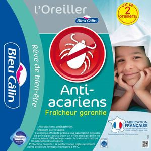 OREILLER - TRAVERSIN  BLEU CALIN Lot de 2 oreillers SANITIZED 45x70cm