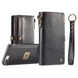 PORTE MONNAIE CaseMe iPhone 8 Plus et 7 TPU PC détachable Magnét