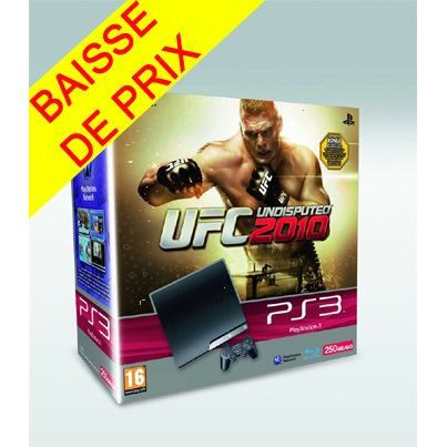 Pack PS3 250 Go + UFC UNDISPUTED 2010 / Console P