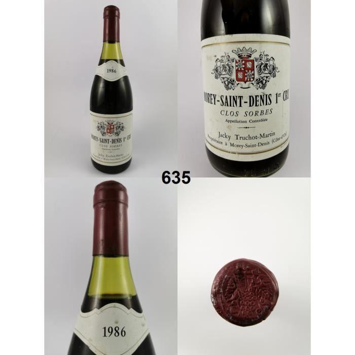 Morey-Saint-Denis - Clos des Sorbes - Truchot 1986 - N° : 635, Morey-Saint-Denis, Rouge