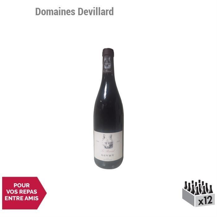 Givry Le Renard Rouge 2016 - Domaines Devillard - Vin AOC Rouge de Bourgogne - Lot de 12x75cl - Cépage Pinot Noir