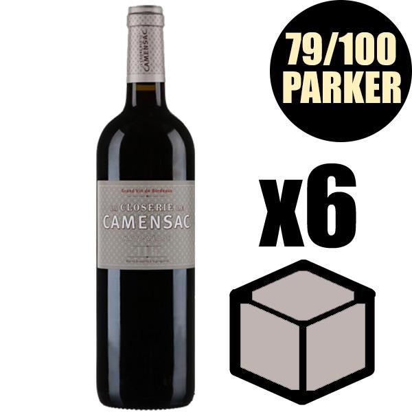 X6 La Closerie de Camensac 2015 75 cl AOC Haut Medoc Rouge 2ème Vin Vin Rouge