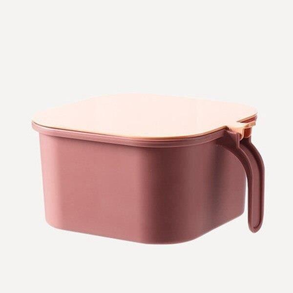 boîte de rangement des épices de cuisine à 4 grilles, avec cuillère, ensemble sel et poivre, récipient à épices, [5680E09]