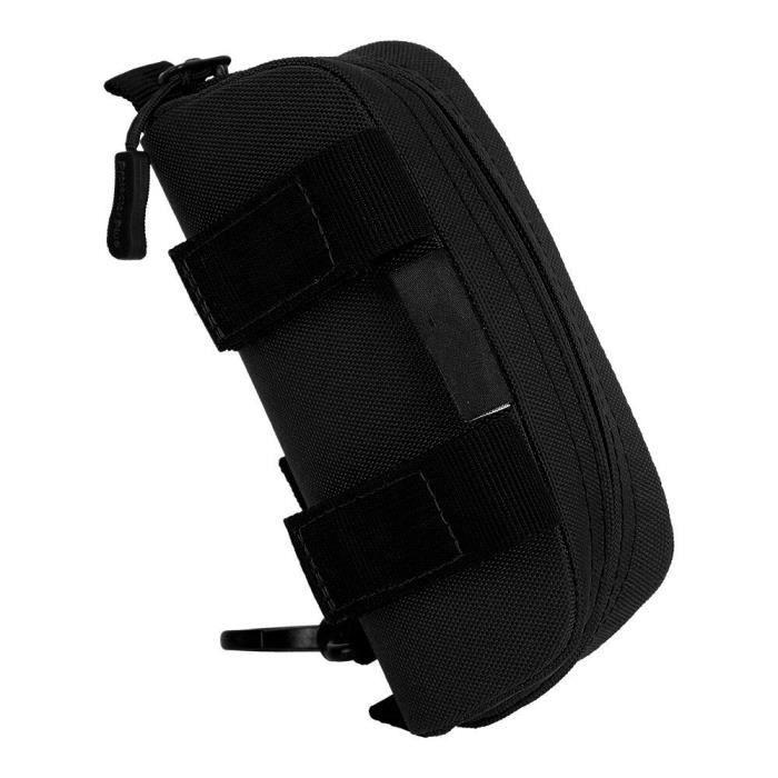 Black -Sacoche tactique Molle pour lunettes de soleil, étui étanche, Camouflage, fermeture éclair, ceinture pour lunettes, pochette