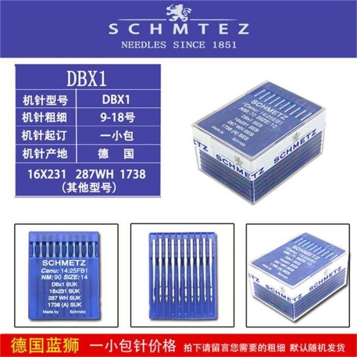 MACHINE A COUDRE,Schmetz aiguilles pour machines à coudre industrielles,14:25 1 DBX1 SUK SES 16x100 231 - 100 needles 110-18