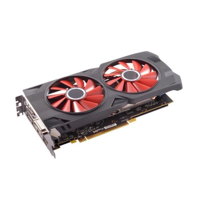 XFX RX-570P8DFD6 Radeon RX 570 8Go GDDR5 Carte Graphique - Cartes Graphiques (Radeon RX 570, 8 Go, GDDR5, 256 bit, 4096 x 2160 Pi