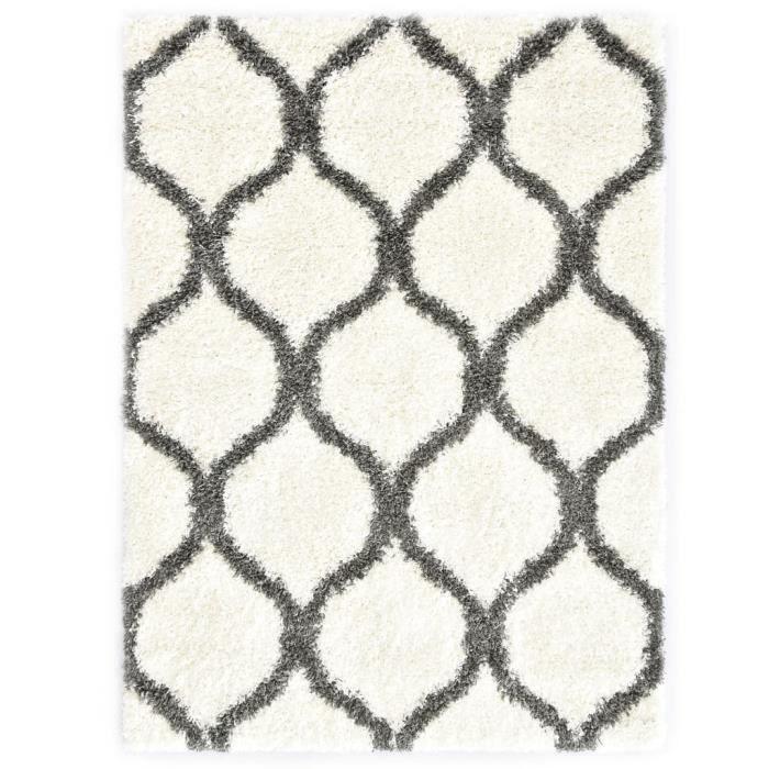 Tapis berbère Tapis de sol PP Beige et gris 80x150 cm