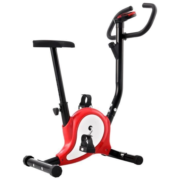 ♫9579 Vélo d'appartement - Vélo d'Exercice d'Intérieur Classique - avec résistance à courroie Rouge MMCZ®
