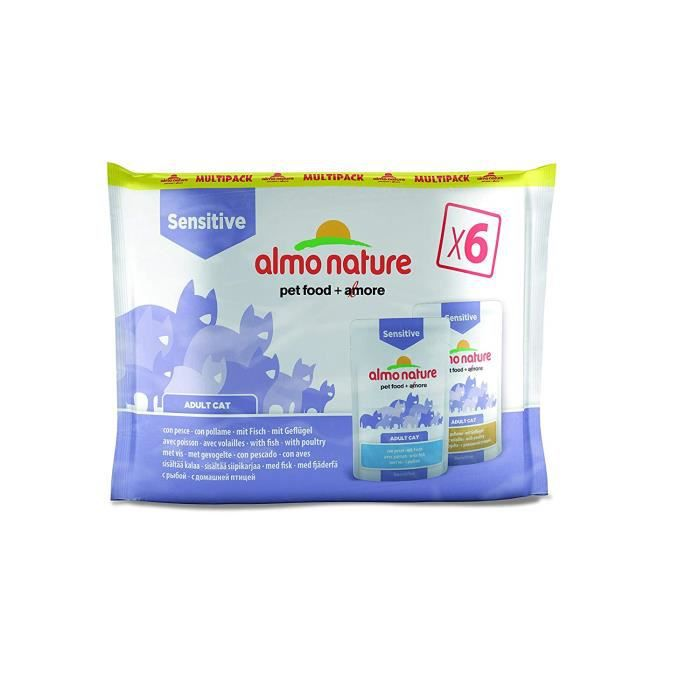 almo nature Daily Fonctionnelle Multipack Sensitive-Complete Wet Cat Nourriture (6 x 70 g)