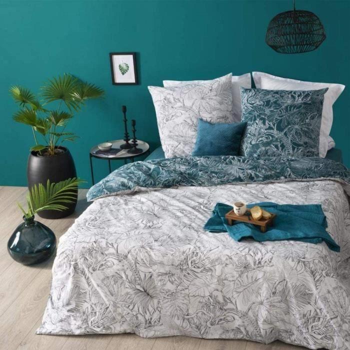 HOUSSE DE COUETTE ET TAIES phera Parure de lit en Coton Jungle 260 x 240 cm22