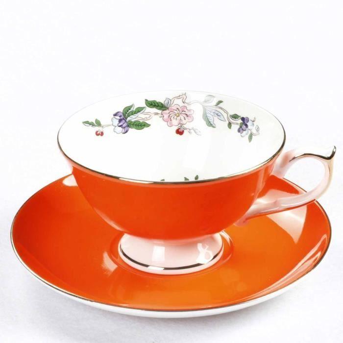 Service à café avec soucoupes,Ensemble de tasses et soucoupes à café en porcelaine, en porcelaine, pour boissons de bureau - Type 8