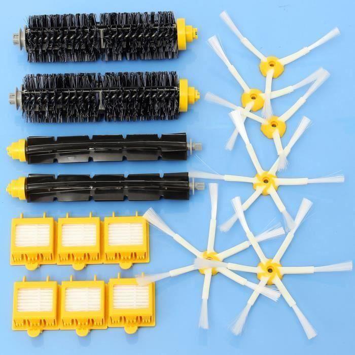 16 Pièces Filtres Brosse Pack Kit Aspirateur Accessoires pour iRobot Roomba 700 Série 760 770 780 COSwk1793