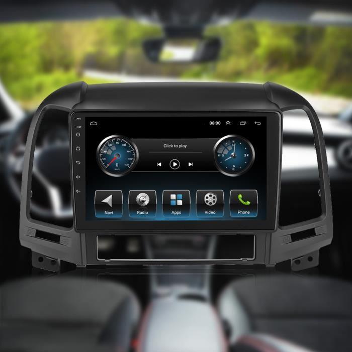 Garosa autoradio FM Lecteur MP5 de Navigation GPS 9in 2Din multimédia pour Android 9.1 adapté pour Hyundai Santa Fe 06-12