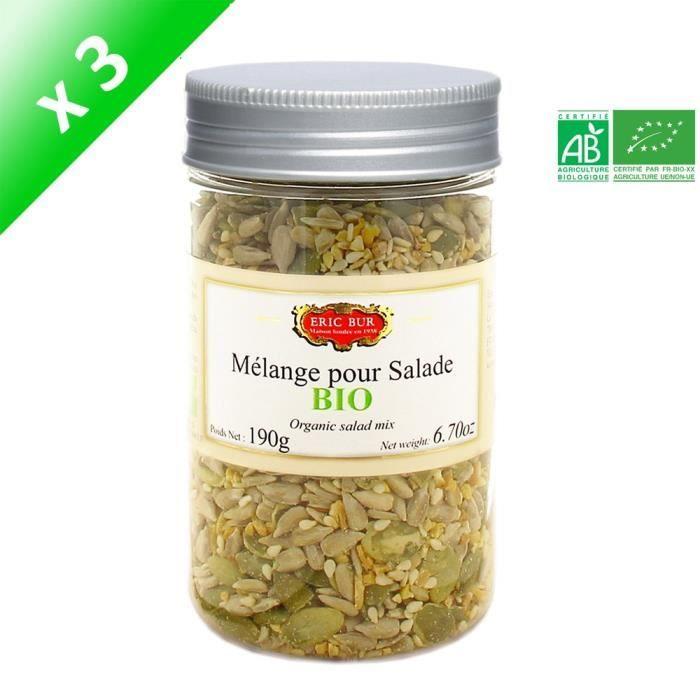 [LOT DE 3] ERIC BUR Mélange pour Salade Bio - 190 g