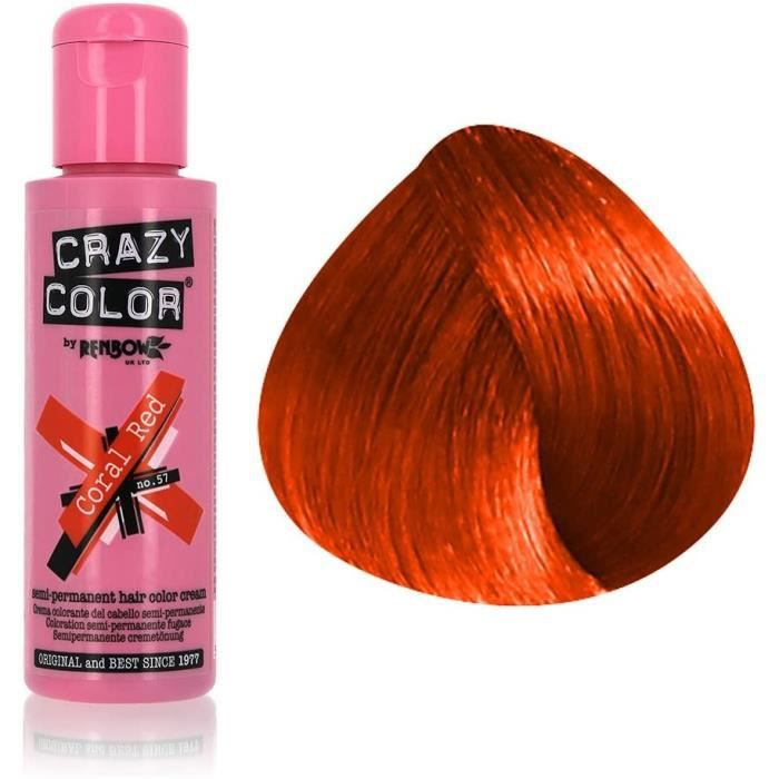 crazy color 100 ml coral red