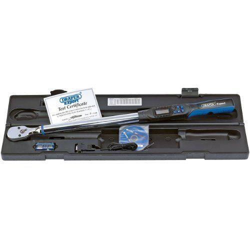 Draper Expert 77990 Clé dynamométrique électronique Carré conducteur 1/23 68-340 Nm Interface RS232 et USB (Import Grande Bretagne)