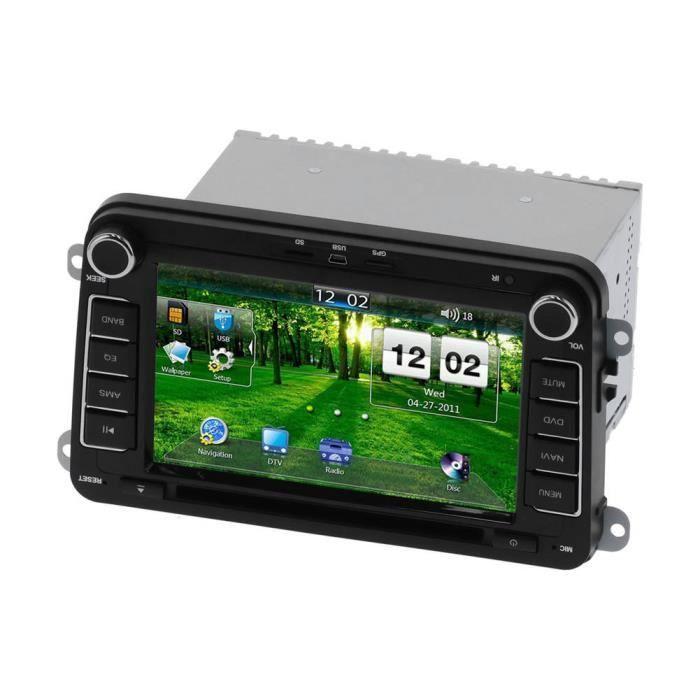 Garosa Autoradio Lecteur DVD de Voiture 2DIN 7 po Navigation GPS Tactile pour Seat Altea/Toledo/Leon ab/Altea XL ab/Alhambra ab