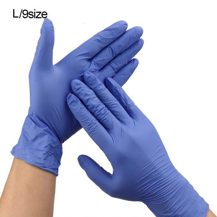 XUY 50 paires de gants en nitrile jetables gants de résistance à l'acide à l'huile gants antidérapants (violet 9in L)