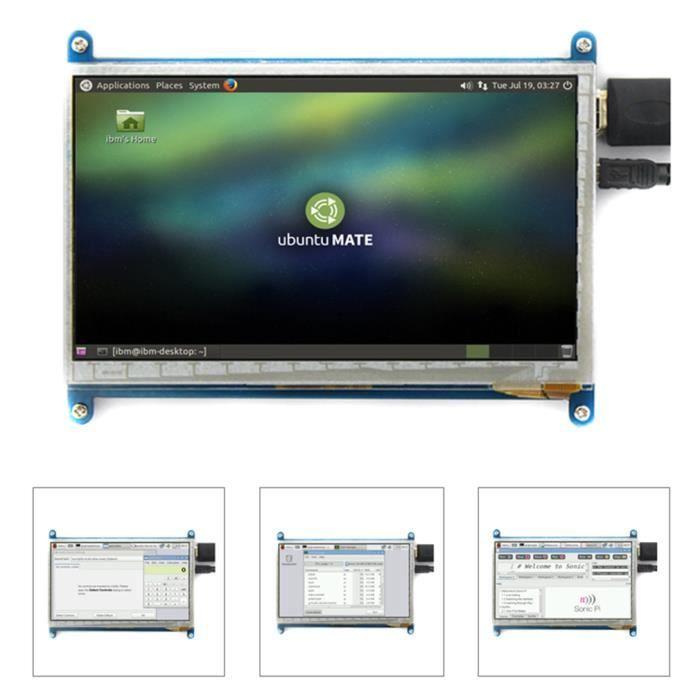 Raspberry Pie 7 Pouces Hdmi Lcd écran Module D'affichage à Cristaux Liquides Pour Framboise Pie Ultra Clair 800*480