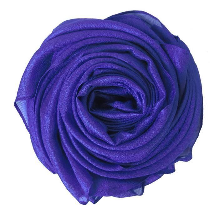 Élégant Écharpe Femme Mariage, Foulard Châle Etole Wrap, Éclat et Miroiter (Bleu Roi)