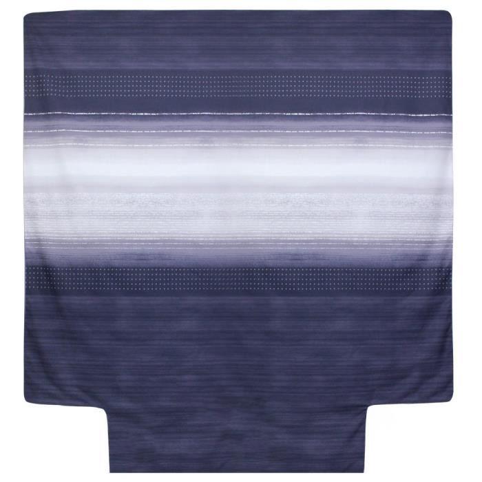 Housse de couette 280x240 cm Percale pur coton JAZZ Bleu 240x280