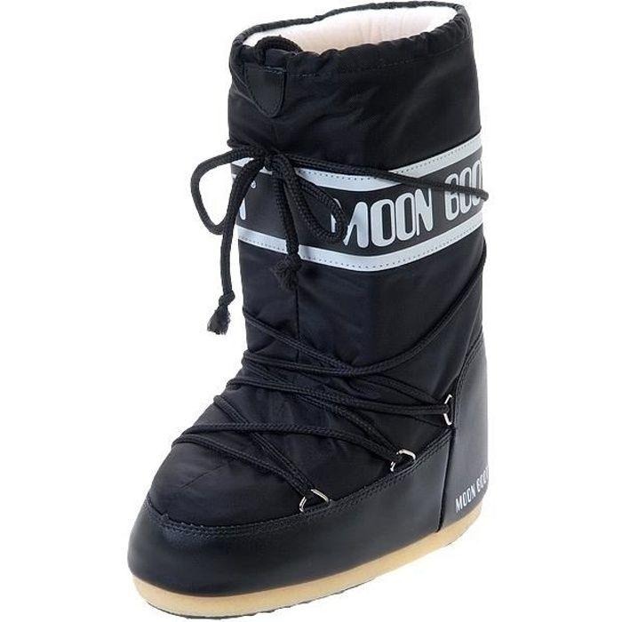 Bottines Nylon noir moon boot