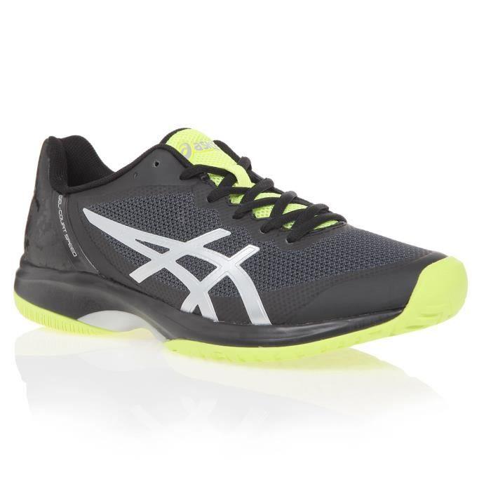 ASICS Chaussures de tennis Gel-Court Speed - Homme - Noir et jaune