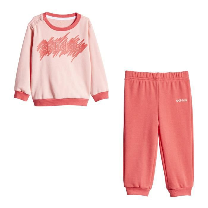 Survêtement Adidas Linear French Terry rose bebe