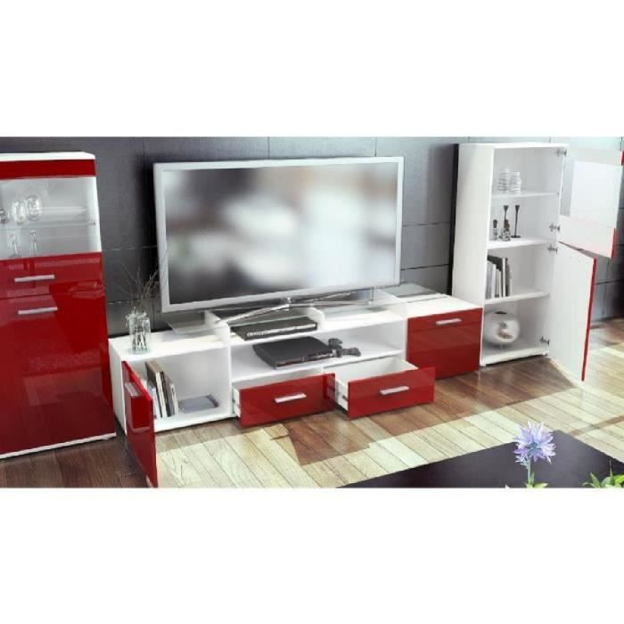 combinaison murale tv vitrine tag re achat vente meuble tv combinaison murale tv vit. Black Bedroom Furniture Sets. Home Design Ideas