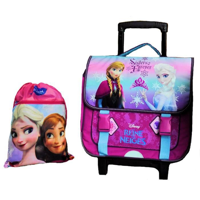 Cartable TROLLEY FROZEN la reine des neiges HAUTE QUALITE taille