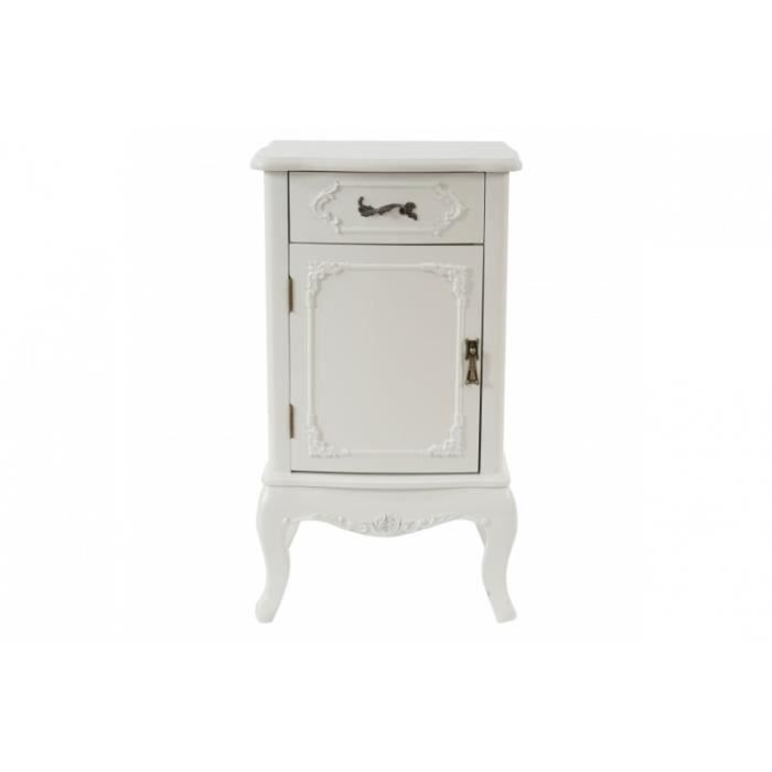 commode table de chevet style baroque antique 71x41x35cm blanc cr me achat vente. Black Bedroom Furniture Sets. Home Design Ideas